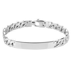 Zilveren naamplaat armband gourmet schakel 20-21 cm