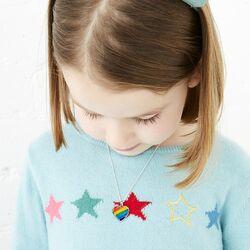 Little Star Bryony hart medaillon gekleurd emaille