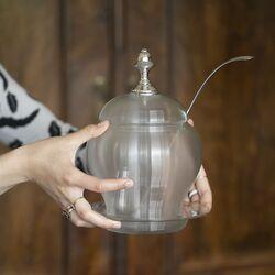 Bowlpot Fries draadglas met zilveren bowllepel