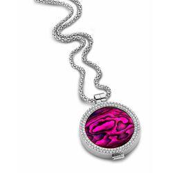 MY iMenso set medaillon zirkonia paars abalone 33mm