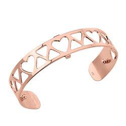 Les Georgettes 12 mm rosé armband Coeur