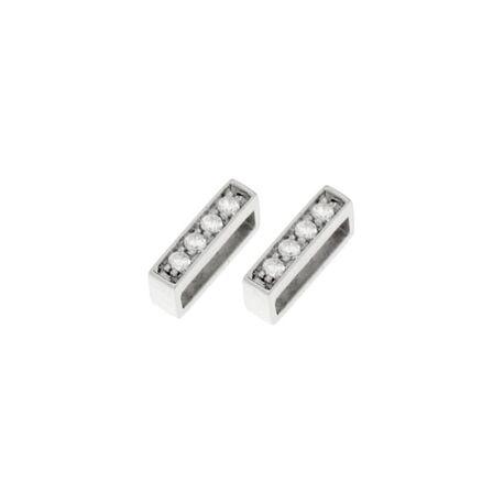 Zilver slide met zirkonia MY iMenso 27-1174