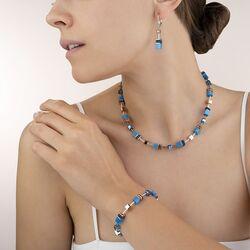 Coeur de Lion oorbellen 4016-20-0700 geocube blauw
