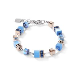 Coeur de Lion armband 4016-30-0700 Geocube blauw