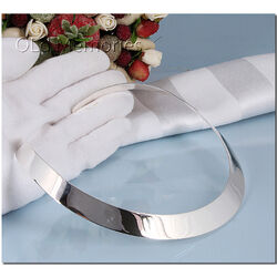 Zilveren brede spang model glad met korting