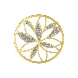 MY iMenso grande vergulde cover Glittery Lotus