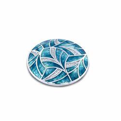 MY iMenso 24-1509 Mezza insignia Turquoise Fantasy 24 mm
