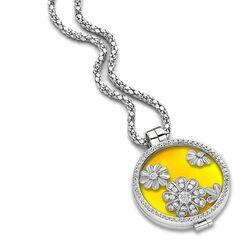 Zilveren ketting met medaillon Daisy Sunlight