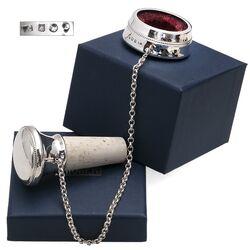 Zilveren Kurk met zilveren druppelvanger parelrand, graveerbaar