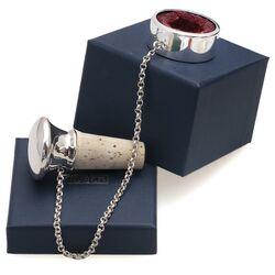 Zilveren kurk met druppelvanger glad, graveerbaar
