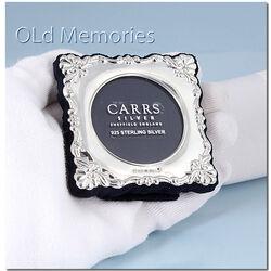Bewerkt zilver fotolijstje bloempatroon Carrs BA103