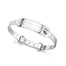 D for Diamond bangle naamplaat armband B4875 naam en datum