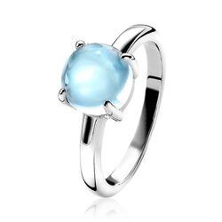 Zinzi zilveren ring zachtblauw ZIR2089B