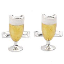 Saturno zilveren manchetknopen champagne glazen groot