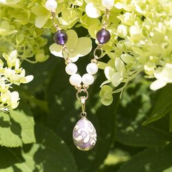 Setje verguld paars van Maison Tatiana Fabergé