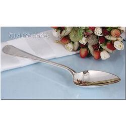 zilveren dinerlepel parelrand