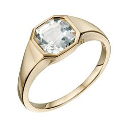 Elements Gold ring bezet met wit topaas GR590C
