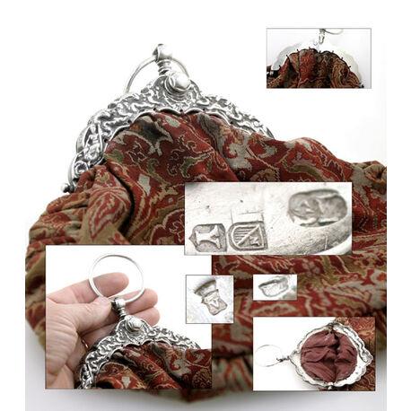 Antieke tasbeugel zilver