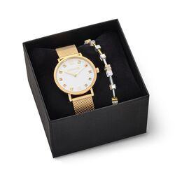 Coeur de Lion horloge cadeauset verguld wit 7612-53-1614