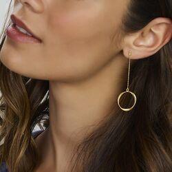 Geelgouden oorbellen cirkels