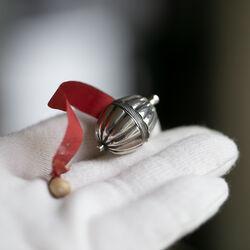 Zilveren meetlint centimeterhouder 19e eeuws Nederland