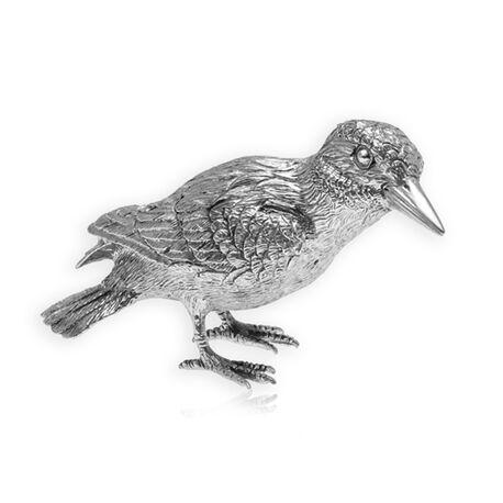 Zilveren tafelstuk ijsvogel
