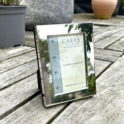 Zilveren fotolijst glad 9 x 6 cm Carrs