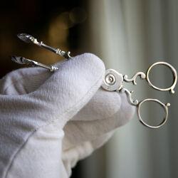 Antieke zilveren kandijtang Samuel Eaton Londen 1759-1768