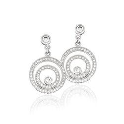 MY iMenso oorbellen Dancing zilver met zirkonia 27-1163