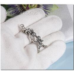 Zilveren bedel of hanger engeltjes