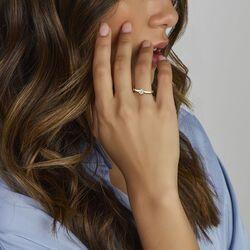 Geelgouden ring met een diamant  0,25 ct