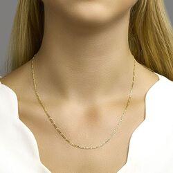 Geelgouden collier figaroschakels 50 cm