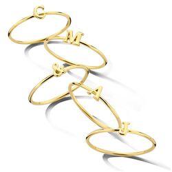 Geelgouden ring letter V