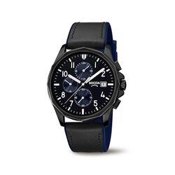Boccia heren horloge zwart blauw 3747-03
