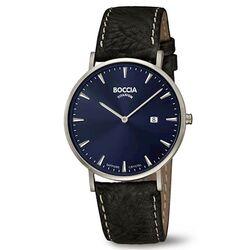 Boccia titanium heren horloge leren band 3648-02