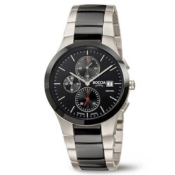 Boccia Titanium zwart kermamiek heren horloge 3748-01