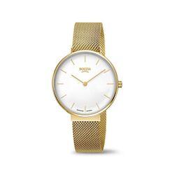 Boccia goudverguld titanium horloge magneet horlogeband 3327-10