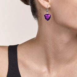 Coeur de Lion oorbellen paars Magisch kristal en Chunky Chain kristal 5054-20-0824