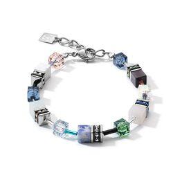 Coeur de Lion 4905-30-0705 armband edelsteen swarovski blauw groen