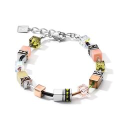 Coeur de Lion armband 5012-30-0922 medium olijf perzik