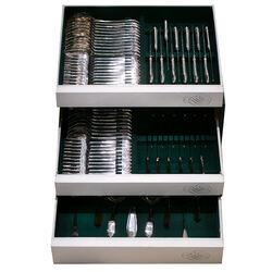 12 Persoons zilver bestek cassette model puntfilet