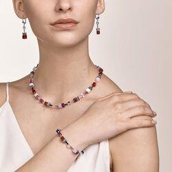 Coeur de Lion sieradenset 4905-0308 rood paars edelstenen en Swarovski