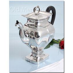 Biedermeier zilveren koffiepot van Stellingwerff