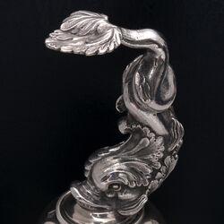 Museum kwaliteit zilveren tafelbel Albertus Homan Amsterdam 1832