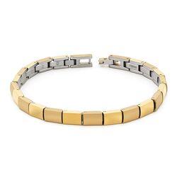 Verguld titanium armband vierkante schakels
