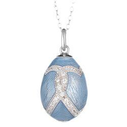 Tatiana Fabergé hanger licht blauw met ketting