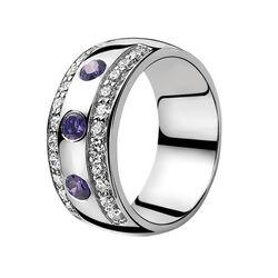 Zinzi ring met paars zirconia Zir550p