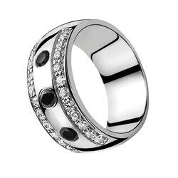 Zinzi ring wit en zwart zirconia Zir550z