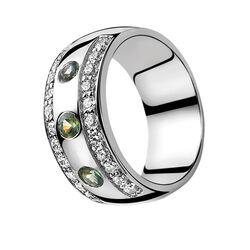 Zinzi ring met groen zirconia Zir550g