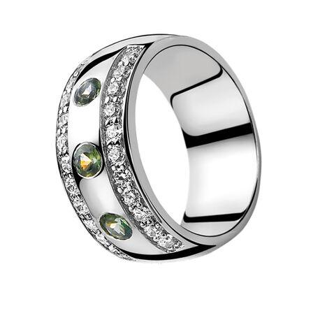 Zilveren ring groen zirconia ZIR550g Zinzi